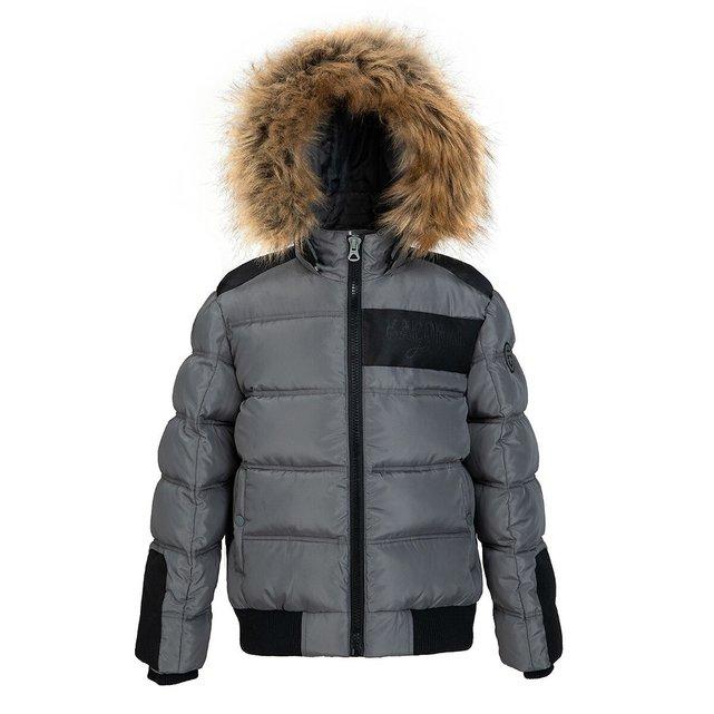 Ζεστό καπιτονέ μπουφάν με κουκούλα, 10-16 ετών