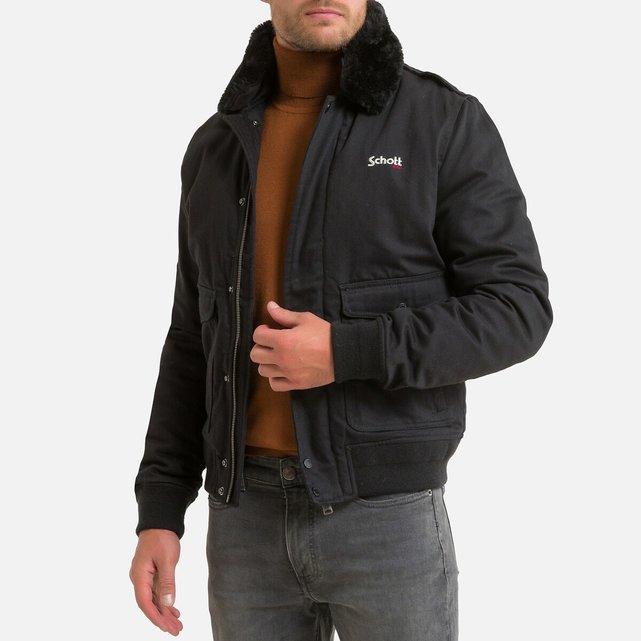 Κοντό μπουφάν με φερμουάρ και γιακά από sherpa, Top Gun 20 D