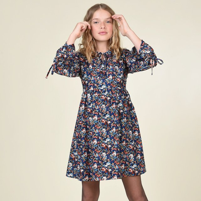 Εβαζέ φόρεμα με φλοράλ μοτίβο, 8-16 ετών