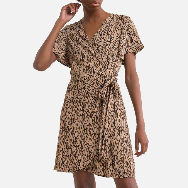 Εμπριμέ φόρεμα-φάκελος