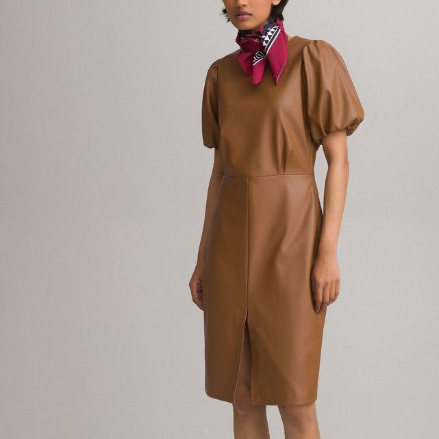 Πένσιλ φόρεμα από συνθετικό δέρμα