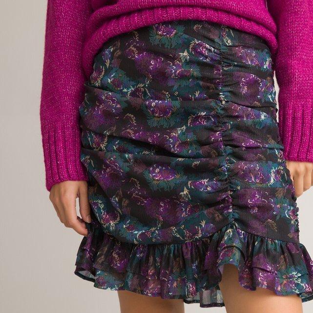 Κοντή φούστα με φλοράλ μοτίβο