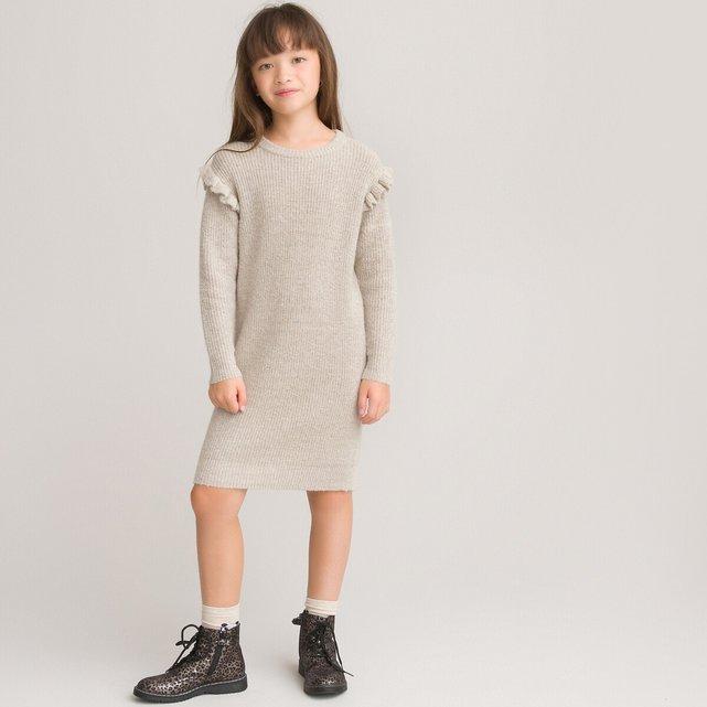 Μακρυμάνικο πλεκτό φόρεμα, 3-12 ετών