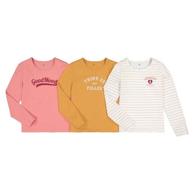 Σετ 3 μπλούζες από οργανικό βαμβάκι, 3-12 ετών
