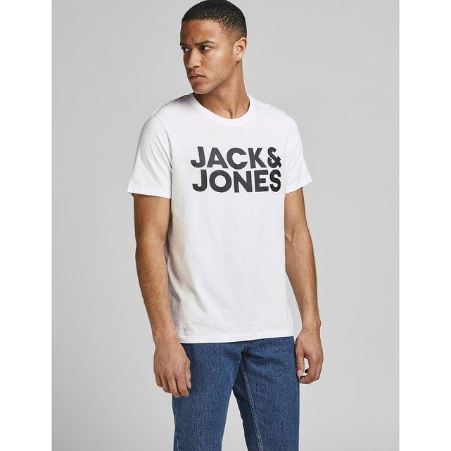 Κοντομάνικo T-shirt με στάμπα μπροστά