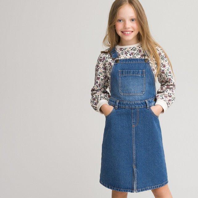 Τζιν φόρεμα σαλοπέτα, 3-12 ετών