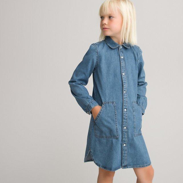 Τζιν φόρεμα σε ίσια γραμμή, 3-12 ετών