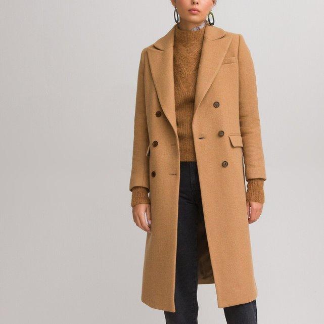 Μακρύ παλτό από μάλλινη τσόχα