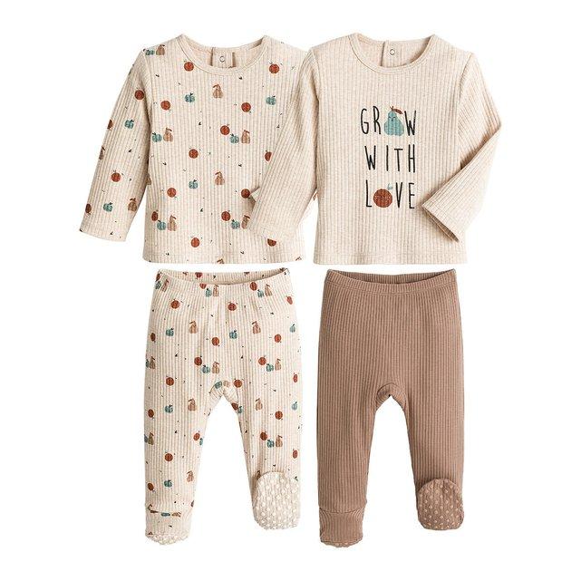 Σετ 2 πιτζάμες από οργανικό βαμβάκι, 1 μηνός - 4 ετών