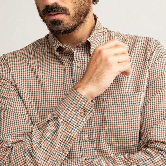 Μακρυμάνικο καρό πουκάμισο σε slim γραμμή