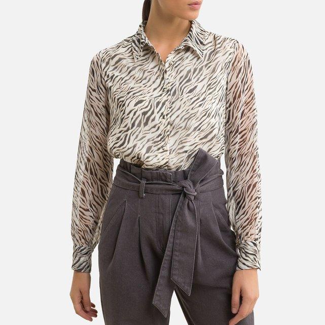 Χυτό πουκάμισο με animal print
