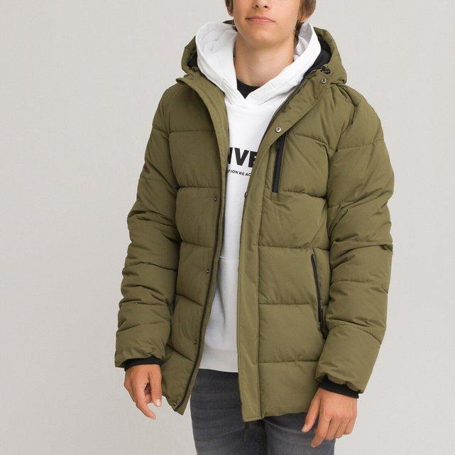 Ζεστό καπιτονέ μπουφάν με κουκούλα, 10-18 ετών