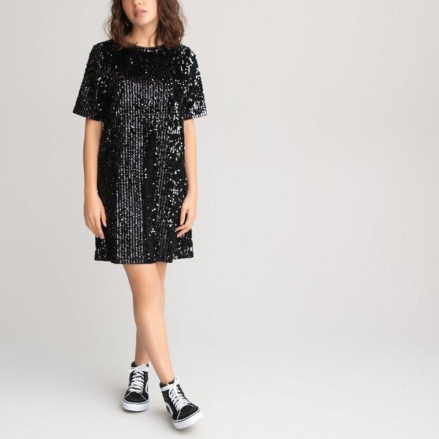Κοντομάνικο φόρεμα σε ίσια γραμμή, 10-18 ετών