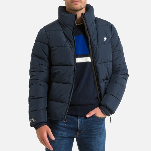 Καπιτονέ μπουφάν με φερμουάρ και όρθιο γιακά, Sports Puffer