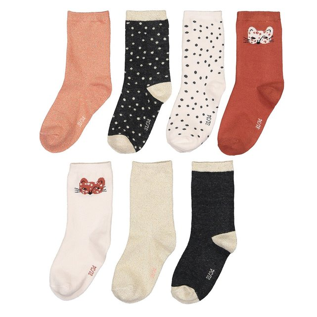 Σετ 7 ζευγάρια κάλτσες, 23|26 - 35|38