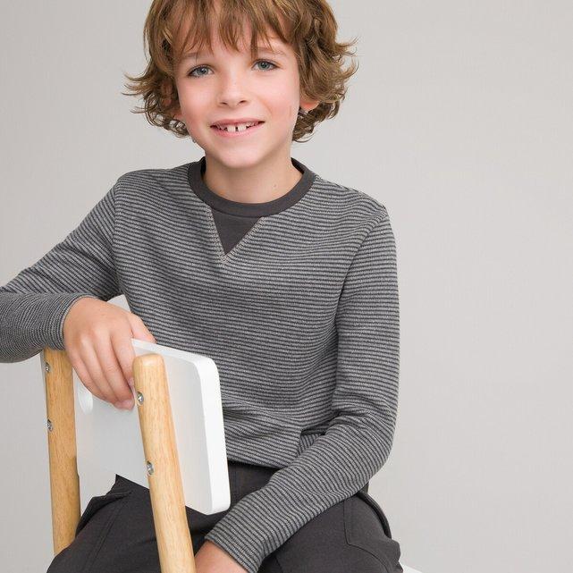 Μακρυμάνικη ριγέ μπλούζα από οργανικό βαμβάκι, 3-12 ετών