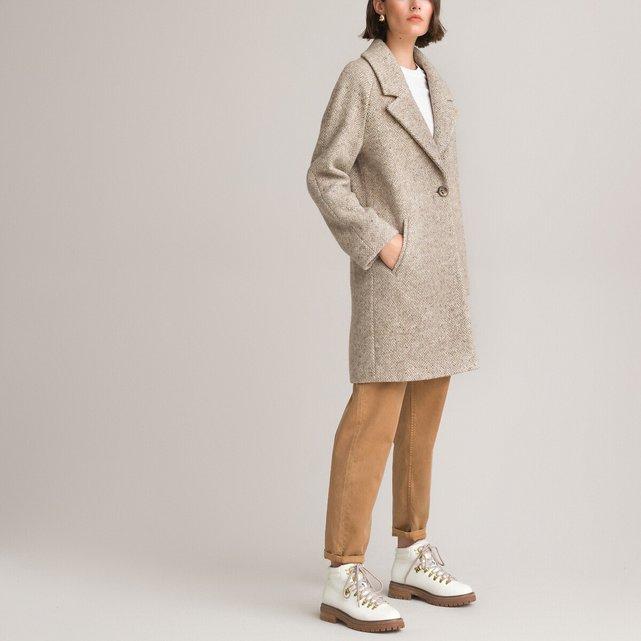 Μίντι παλτό ψαροκόκκαλο