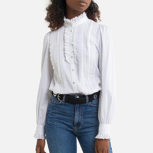 Μακρυμάνικο πουκάμισο με κέντημα