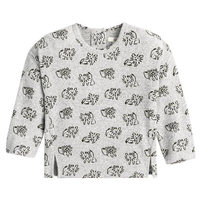 Μακρυμάνικη μπλούζα με τυπωμένα μοτίβα, 1 μηνός - 4 ετών
