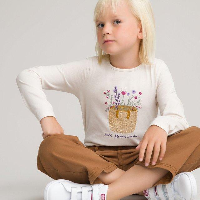 Μακρυμάνικη μπλούζα με στάμπα, 2-12 ετών