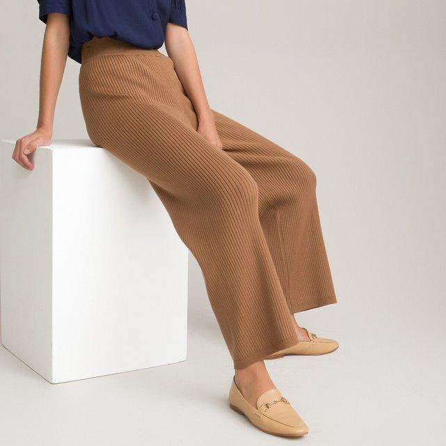 Φαρδύ πλεκτό παντελόνι