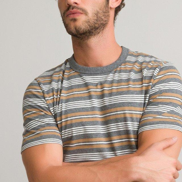 Κοντομάνικη μπλούζα με ρίγες