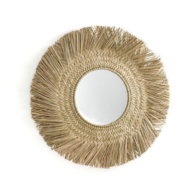 Καθρέφτης σε σχήμα ήλιου από ψάθα, Loully
