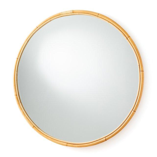 Στρογγυλός καθρέφτης από ρατάν Δ120 εκ., Nogu