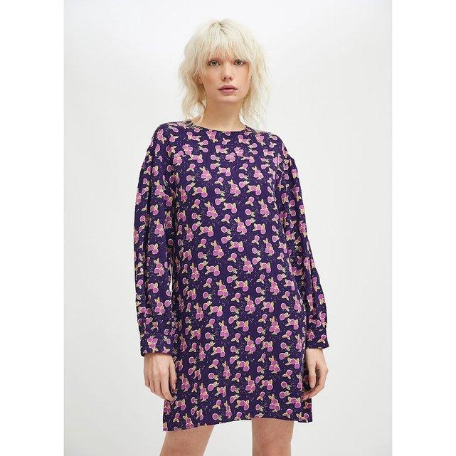 Κοντό φόρεμα με μοτίβο φρούτα