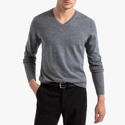 V-Neck Merino Wool Jumper Sweater