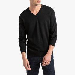 V-Neck Merino Wool Jumper Sweater
