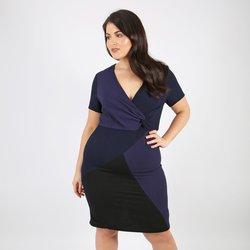 Κρουαζέ φόρεμα χρωματική αντίθεση