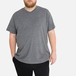 Κοντομάνικη Βαμβακερή Μπλούζα με Λαιμόκοψη V