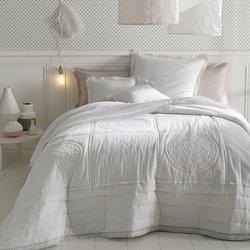 Καπιτονέ βαμβακερό κάλυμμα κρεβατιού με κέντημα, OYENA