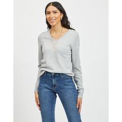 V-Neck Fine Gauge Knit Jumper Sweater