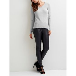 V-Neck Fine Gauge Knit Jumper Sweater