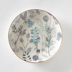 Πιάτα του γλυκού με σχέδιο λουλούδια, σετω των 4, Erbal