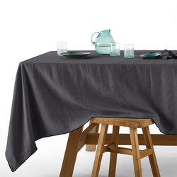 Suzy Pre-Washed Linen Tablecloth with Bourdon Edgi