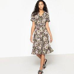 Φλοράλ εβαζέ φόρεμα