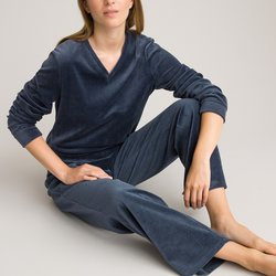 Cotton Rich Velour Pyjamas