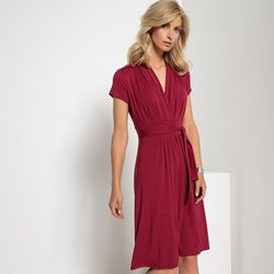 Draping A-Line Dress