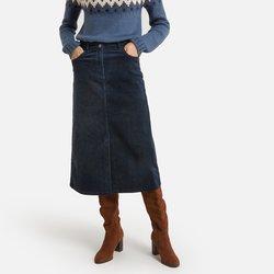 Ίσια βελούδινη φούστα