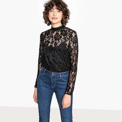 Μακρυμάνικη μπλούζα από δαντέλα