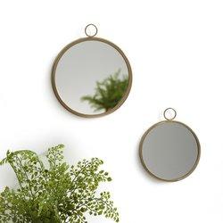 Στρογγυλοί καθρέφτες τοίχου (σετ των 2), UYOVA