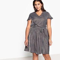 Βελούδινο φόρεμα με δαντέλα