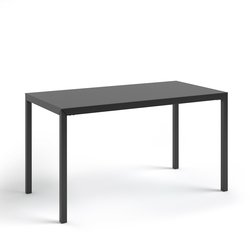 Τραπέζι φαγητού μεταλλικό μαύρο 4 ατόμων Hiba