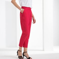 Ίσιο παντελόνι, βαμβάκι+λινό