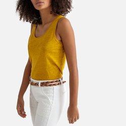 Αμάνικη λινή μπλούζα