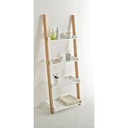 Ραφιέρα - σκάλα μπάνιου, 4 ράφια, LINDUS
