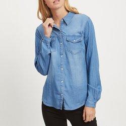 Μακρυμάνικο πουκάμισο με όψη ντένιμ